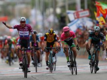 Viviani wins 3rd stage as Giro bids farewell to Israel